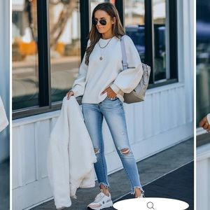 Lexa Knit Sweater in Off White